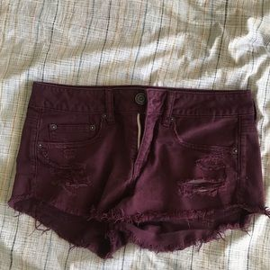 Destroyed denim shorts from American Eagle